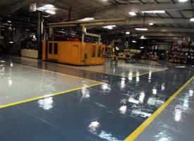 Bowles Electrostatic Painting - Floor Coating - Louisville Ky