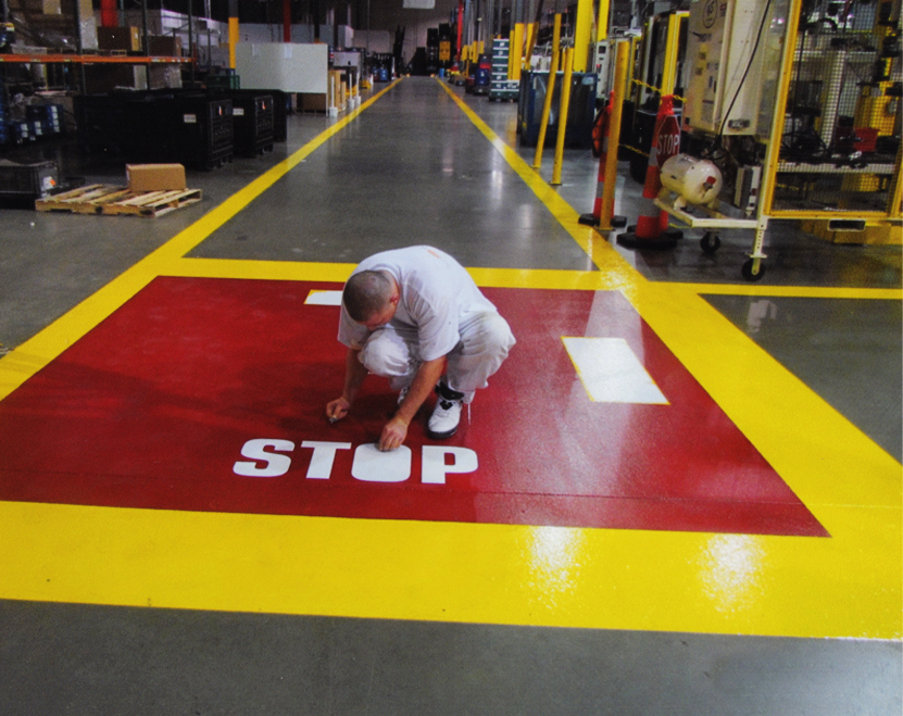 Bowles Electrostatic Painting - Cross Walks and Walk Areas - Louisville Ky